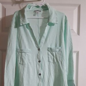 Express - Adult Small Mint Green Button Shirt
